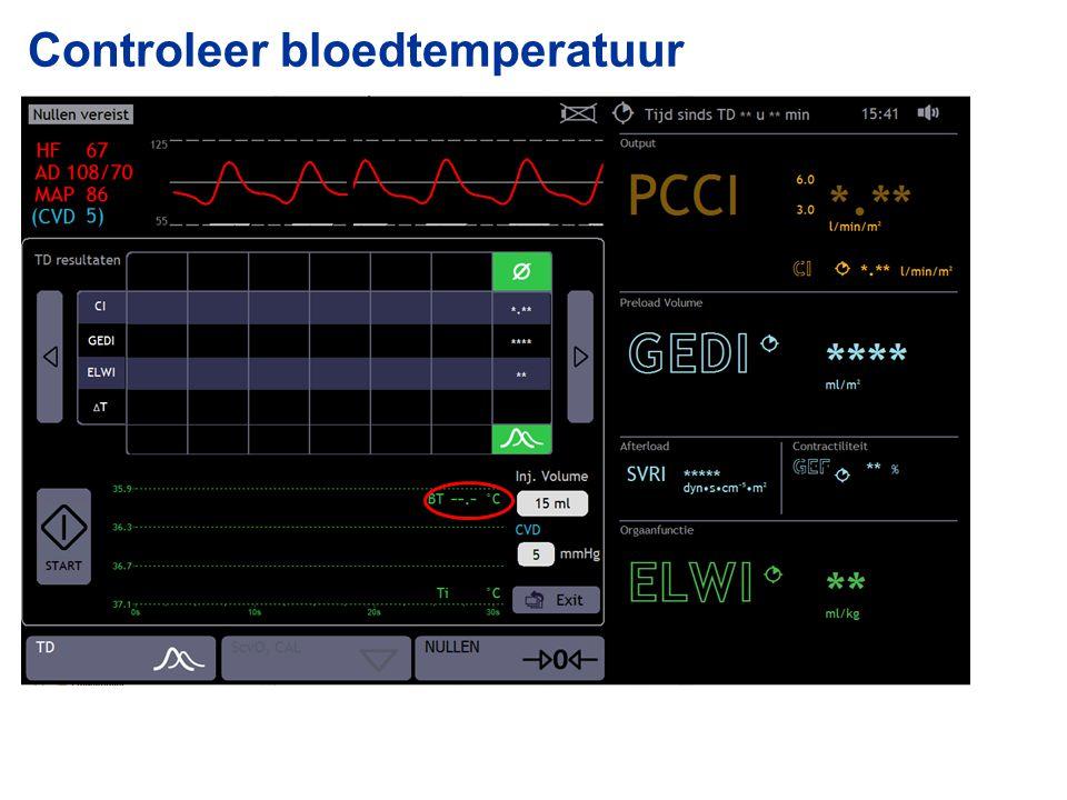 Controleer bloedtemperatuur