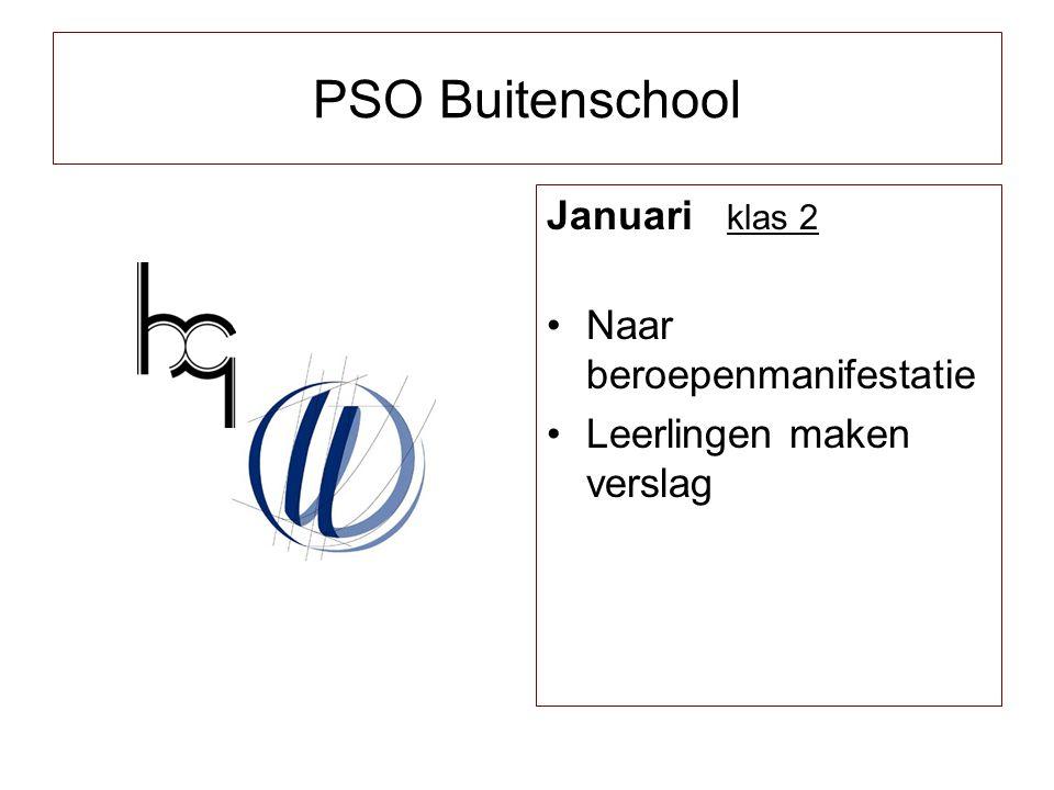PSO Buitenschool Januari klas 2 Naar beroepenmanifestatie
