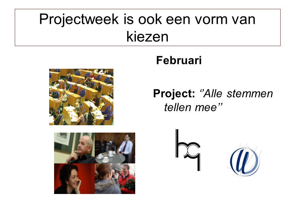 Projectweek is ook een vorm van kiezen