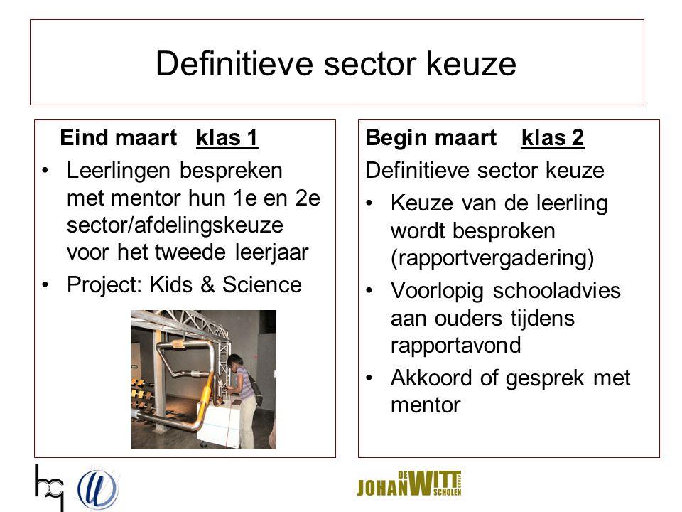 Definitieve sector keuze