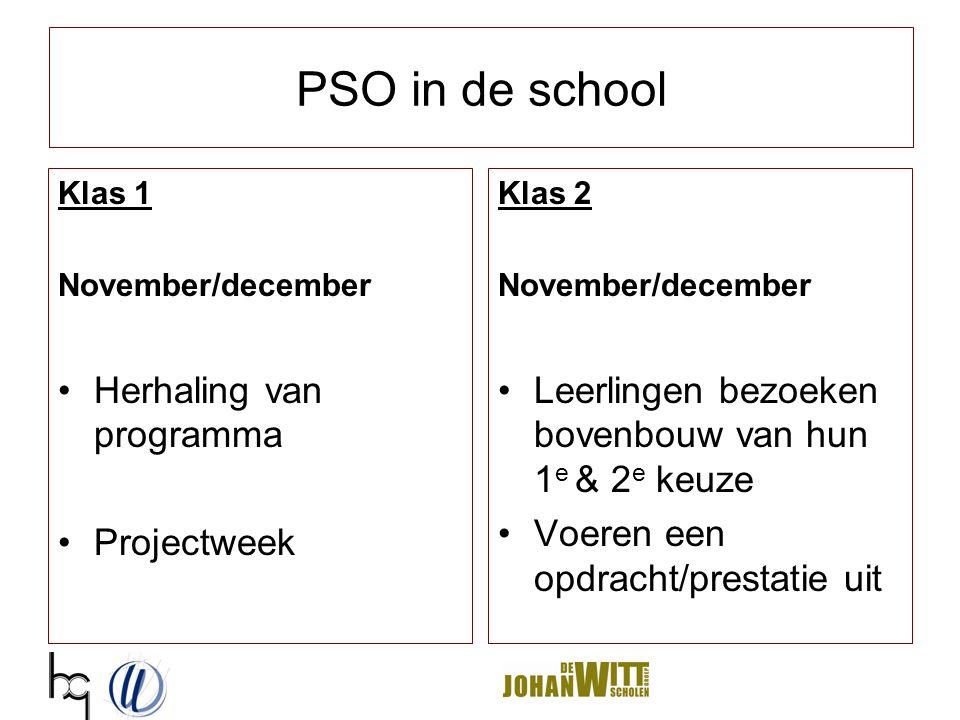 PSO in de school Herhaling van programma Projectweek