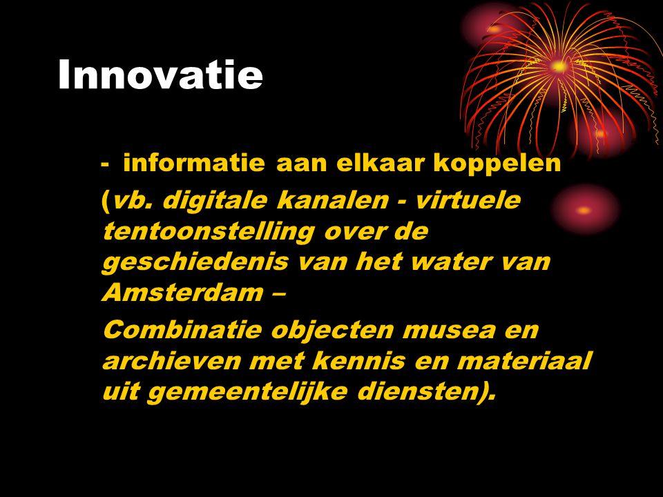 Innovatie - informatie aan elkaar koppelen