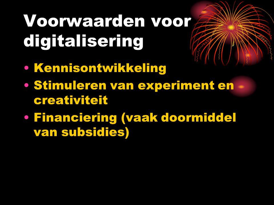 Voorwaarden voor digitalisering