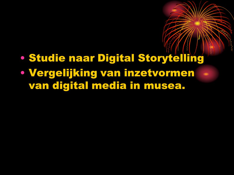 Studie naar Digital Storytelling