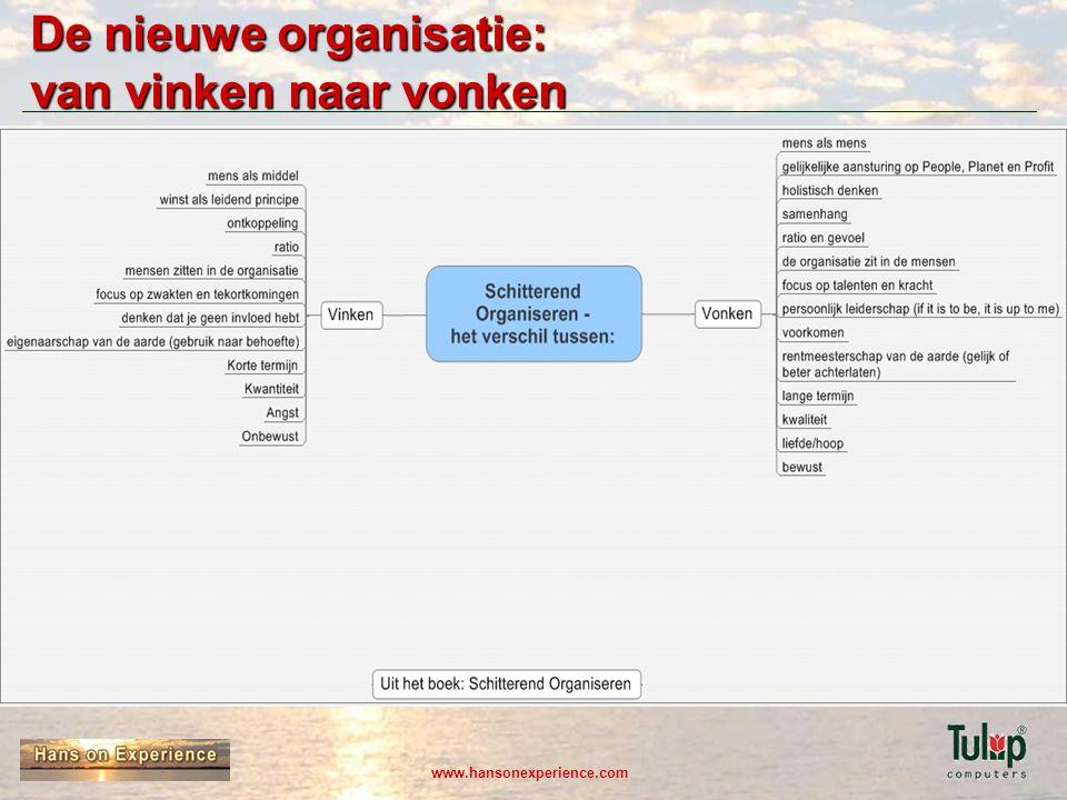 De nieuwe organisatie: van vinken naar vonken