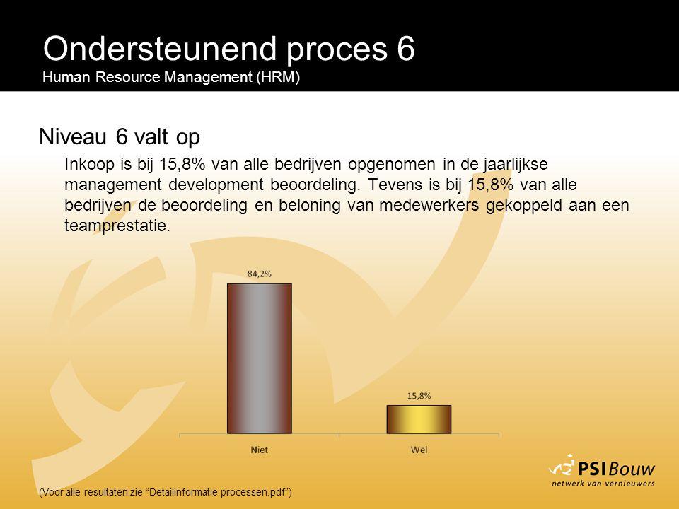 Ondersteunend proces 6 Niveau 6 valt op