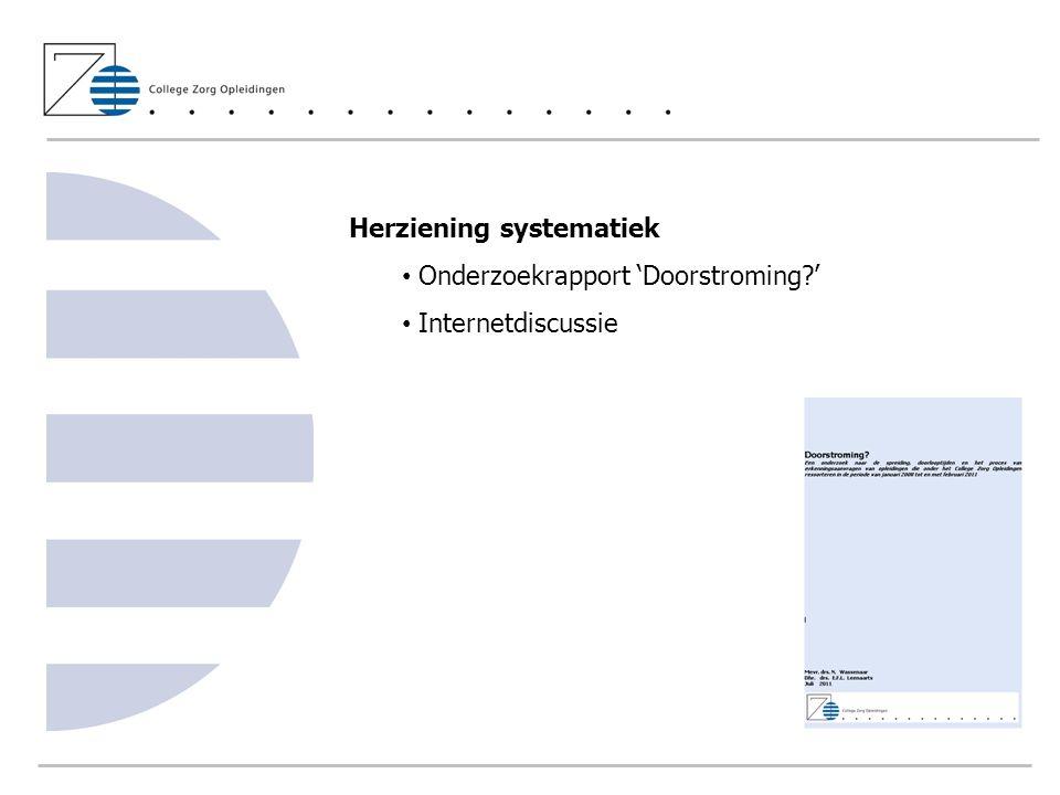 Herziening systematiek Onderzoekrapport 'Doorstroming '