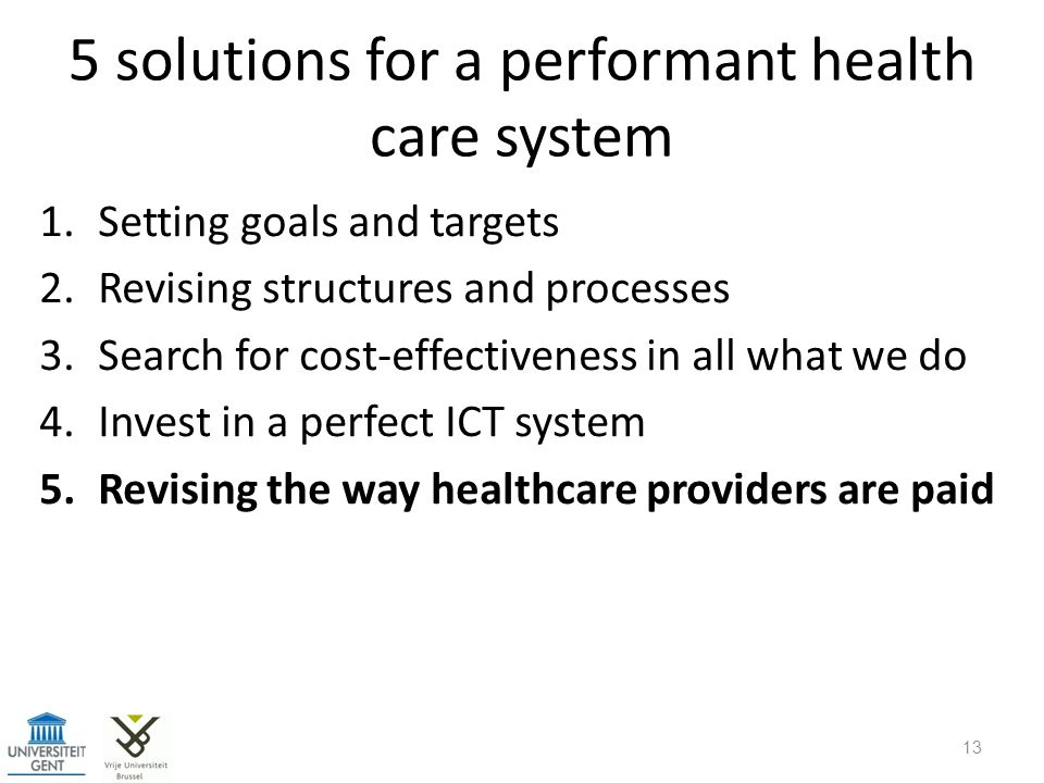 5 solutions for a performant health care system