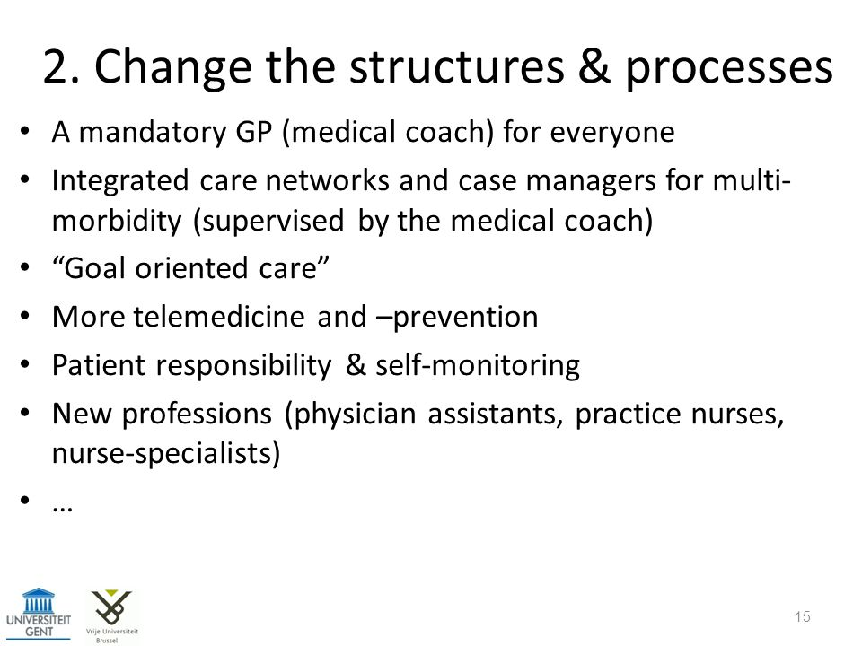 2. Change the structures & processes