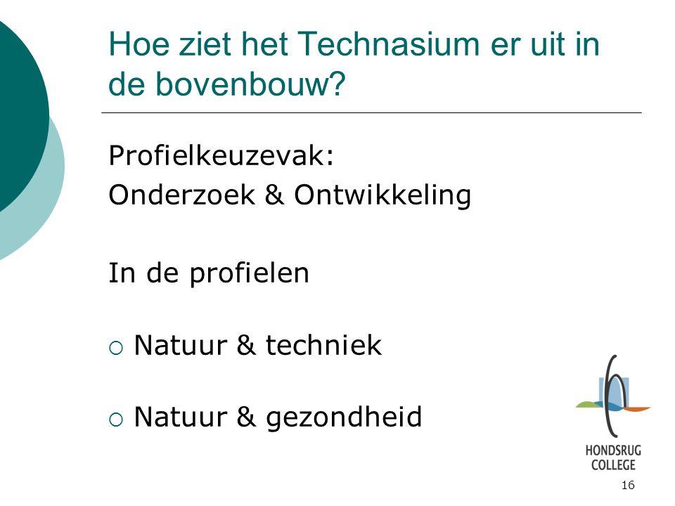 Hoe ziet het Technasium er uit in de bovenbouw