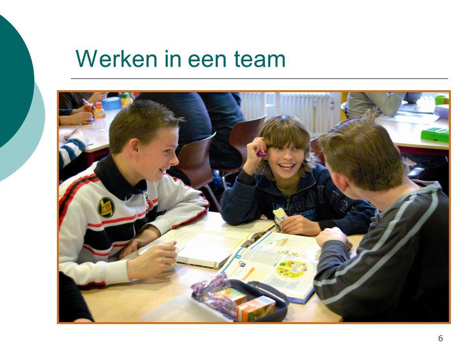 Werken in een team