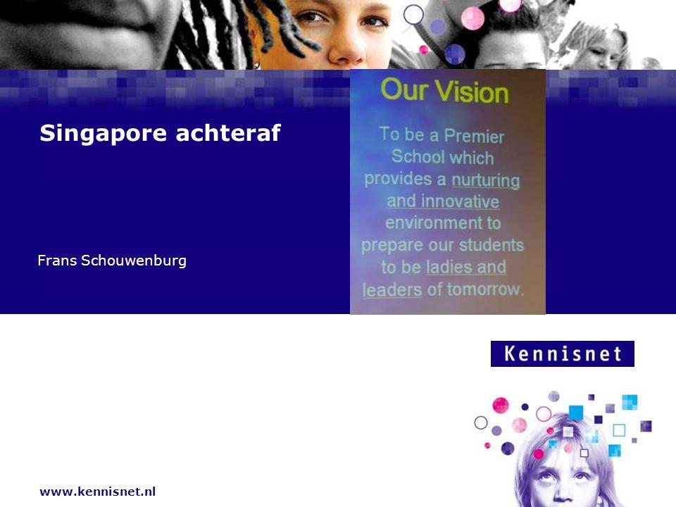 Inhoud Inleiding Over het onderwijs in Singapore Wijze lessen Een masterplan Het vervolg