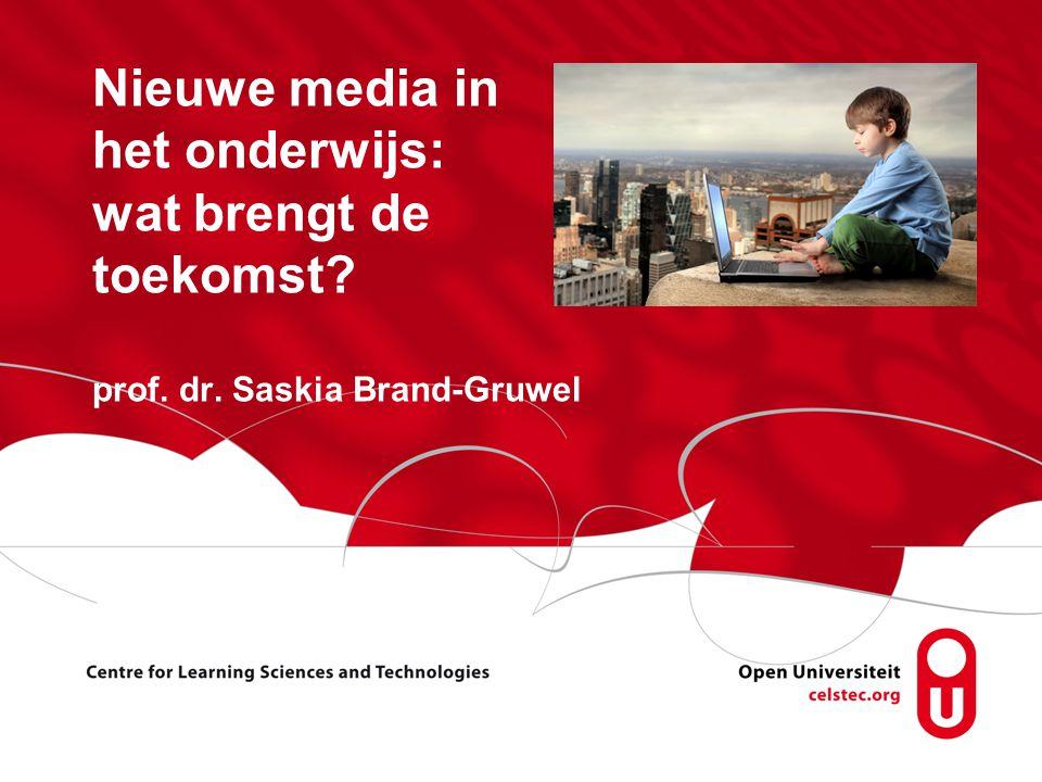Nieuwe media in het onderwijs: wat brengt de toekomst. prof. dr