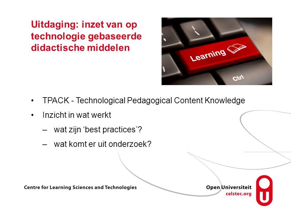 Uitdaging: inzet van op technologie gebaseerde didactische middelen