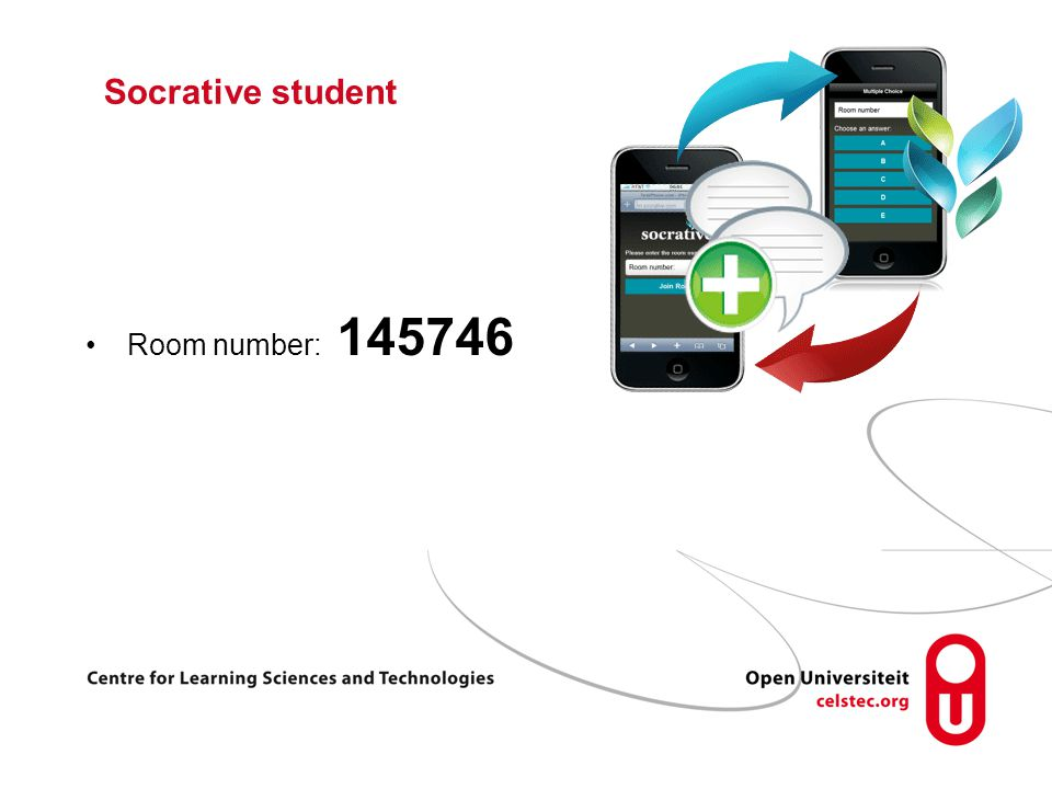 Socrative student Room number: