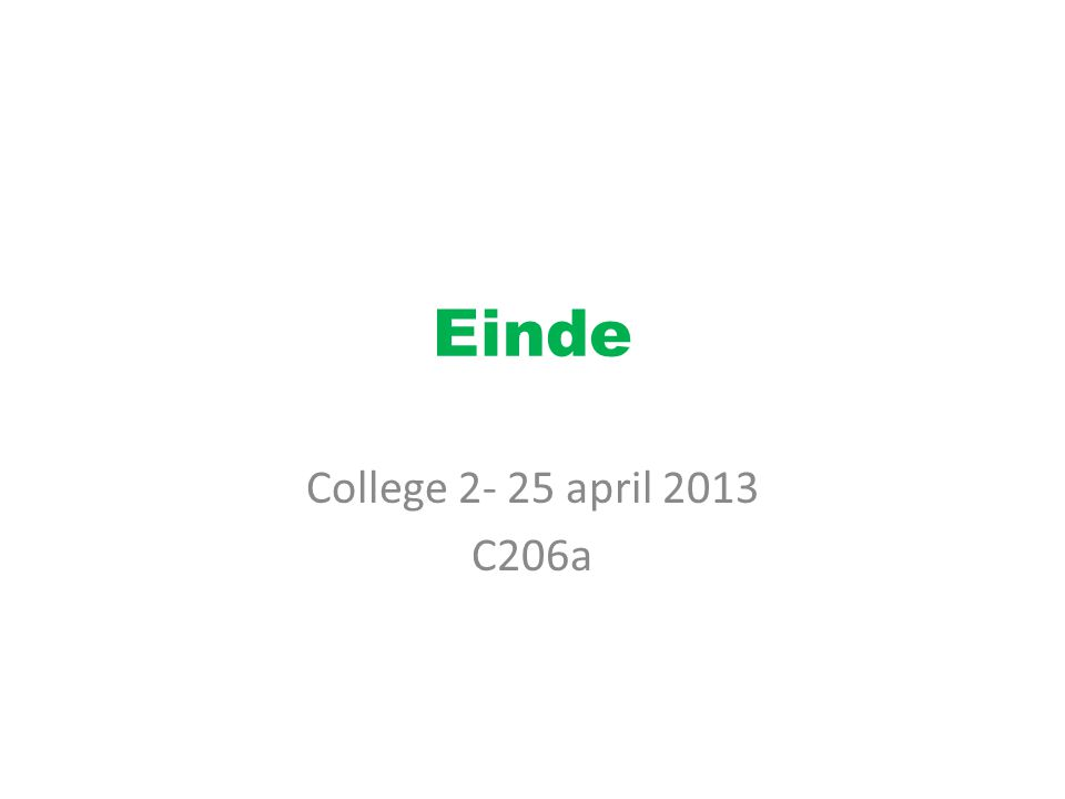 Einde College april 2013 C206a