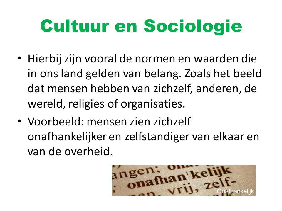 Cultuur en Sociologie