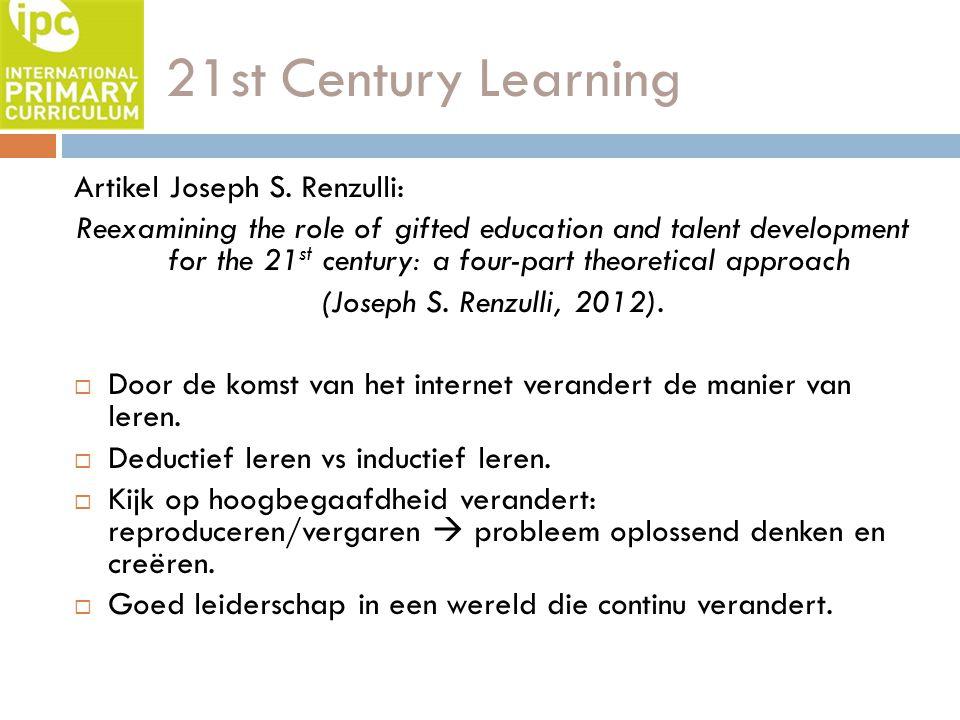 21st Century Learning Artikel Joseph S. Renzulli:
