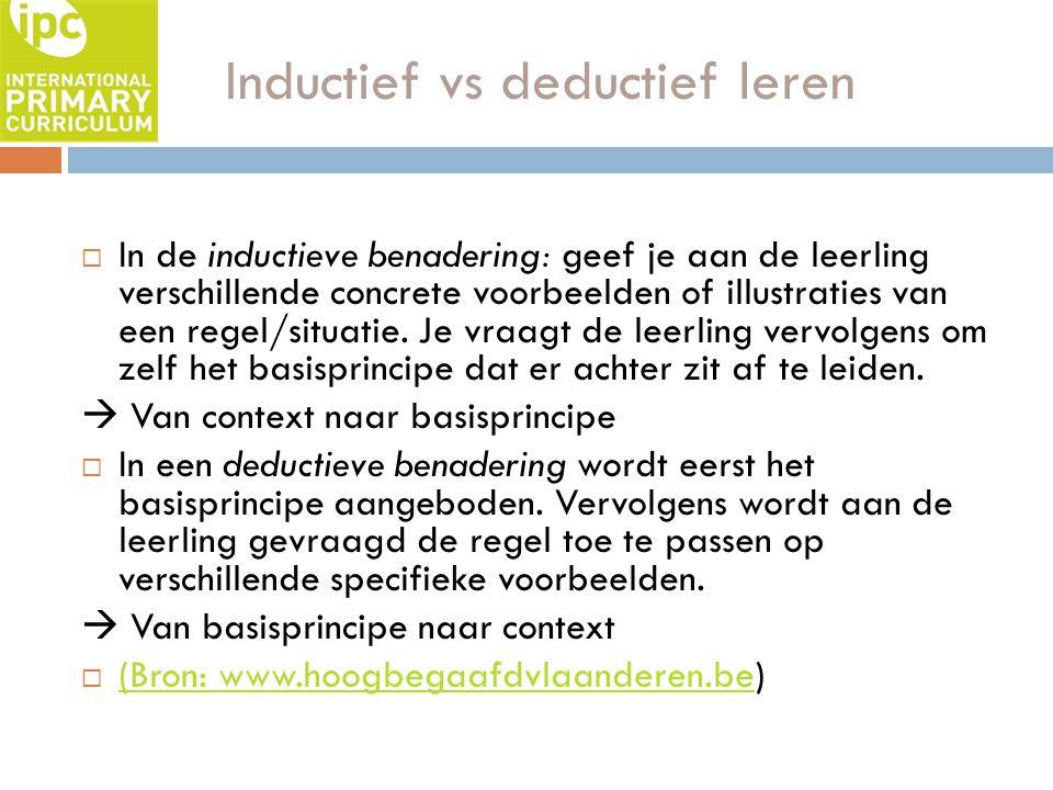 Inductief vs deductief leren