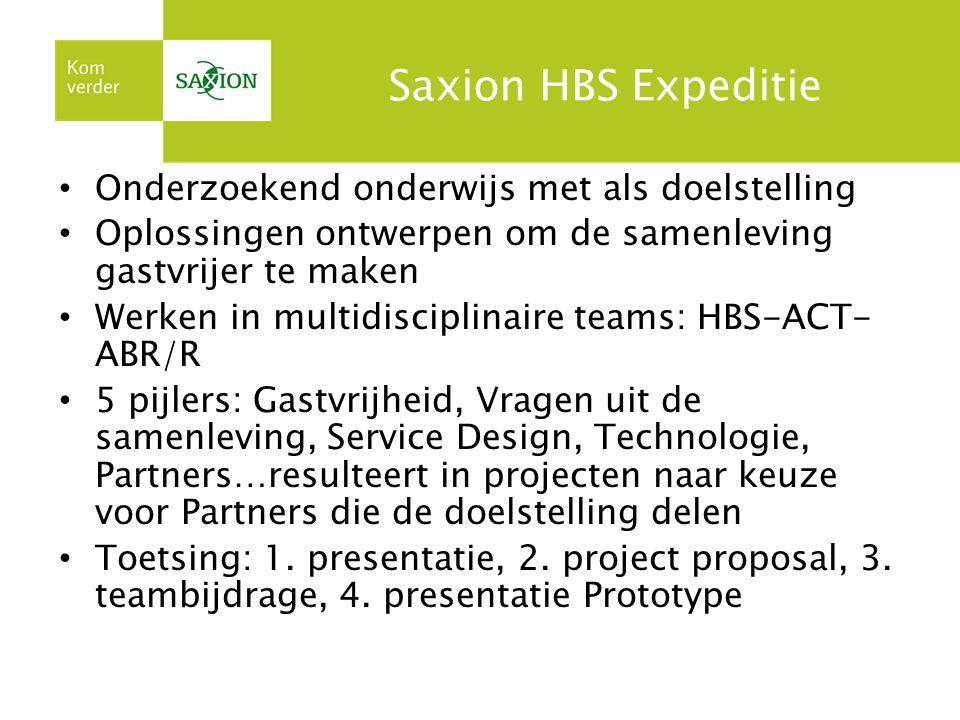 Saxion HBS Expeditie Onderzoekend onderwijs met als doelstelling