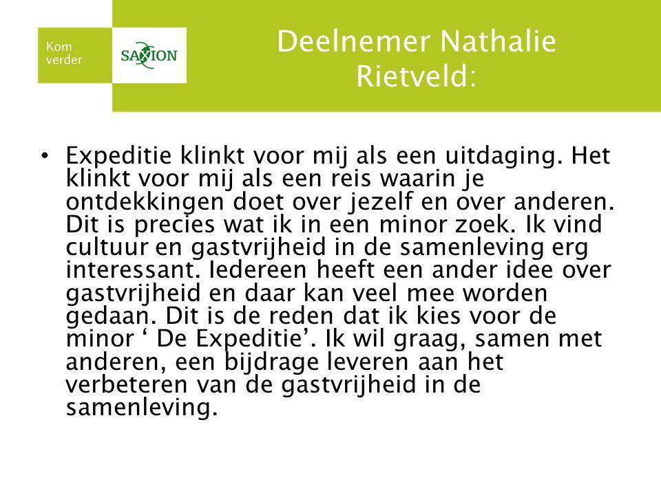 Deelnemer Nathalie Rietveld: