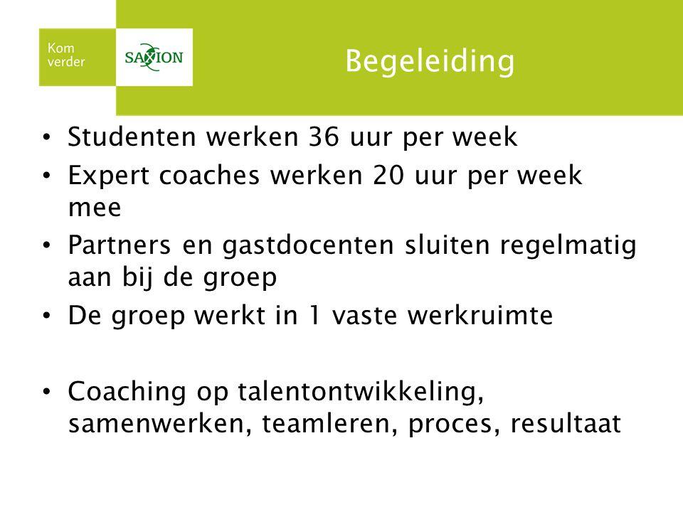 Begeleiding Studenten werken 36 uur per week