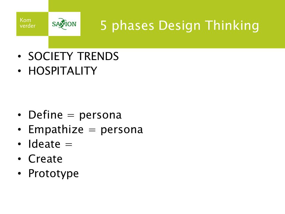 5 phases Design Thinking