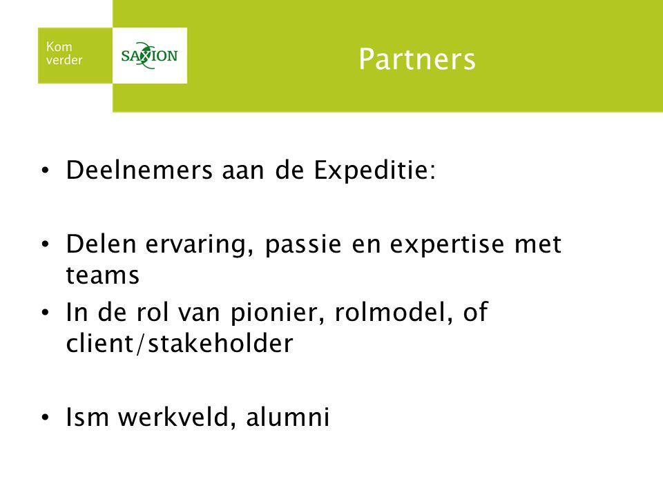 Partners Deelnemers aan de Expeditie: