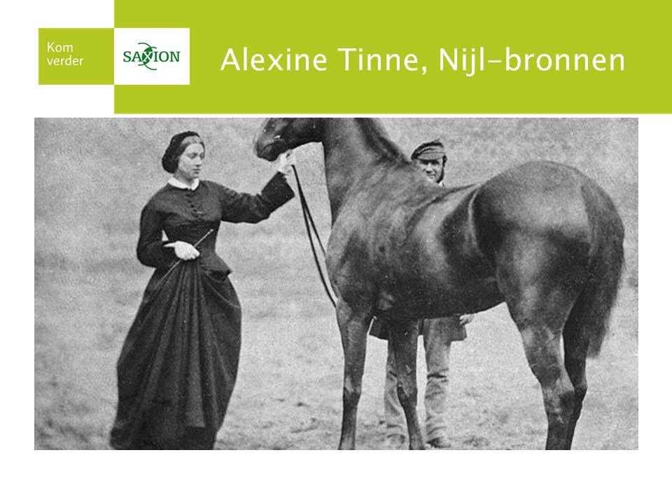 Alexine Tinne, Nijl-bronnen