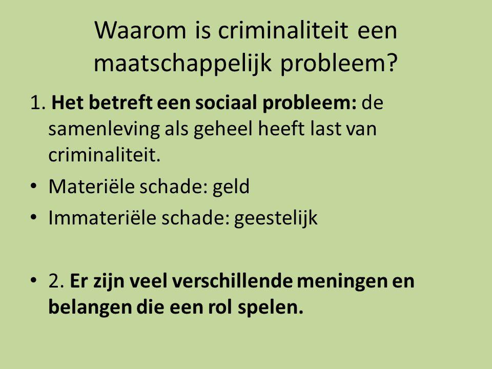 Waarom is criminaliteit een maatschappelijk probleem