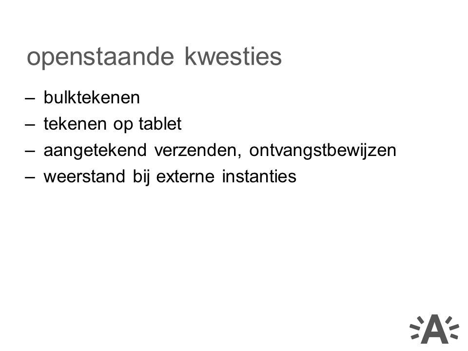 openstaande kwesties bulktekenen tekenen op tablet