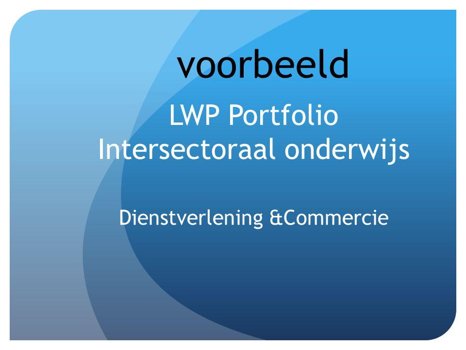 LWP Portfolio Intersectoraal onderwijs