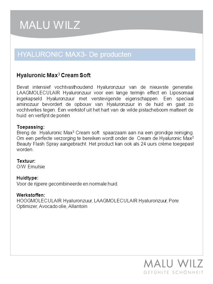 MALU WILZ HYALURONIC MAX3- De producten Hyaluronic Max3 Cream Soft