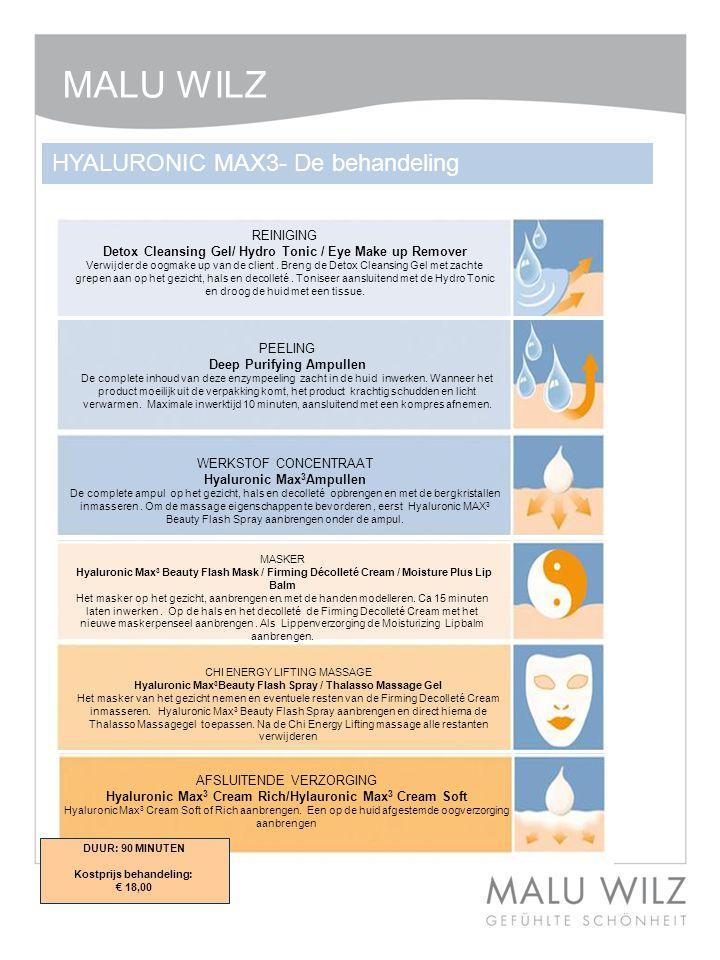 MALU WILZ HYALURONIC MAX3- De behandeling REINIGING