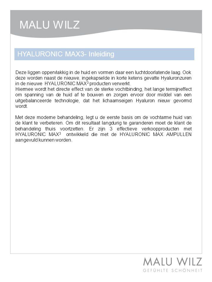 MALU WILZ HYALURONIC MAX3- Inleiding