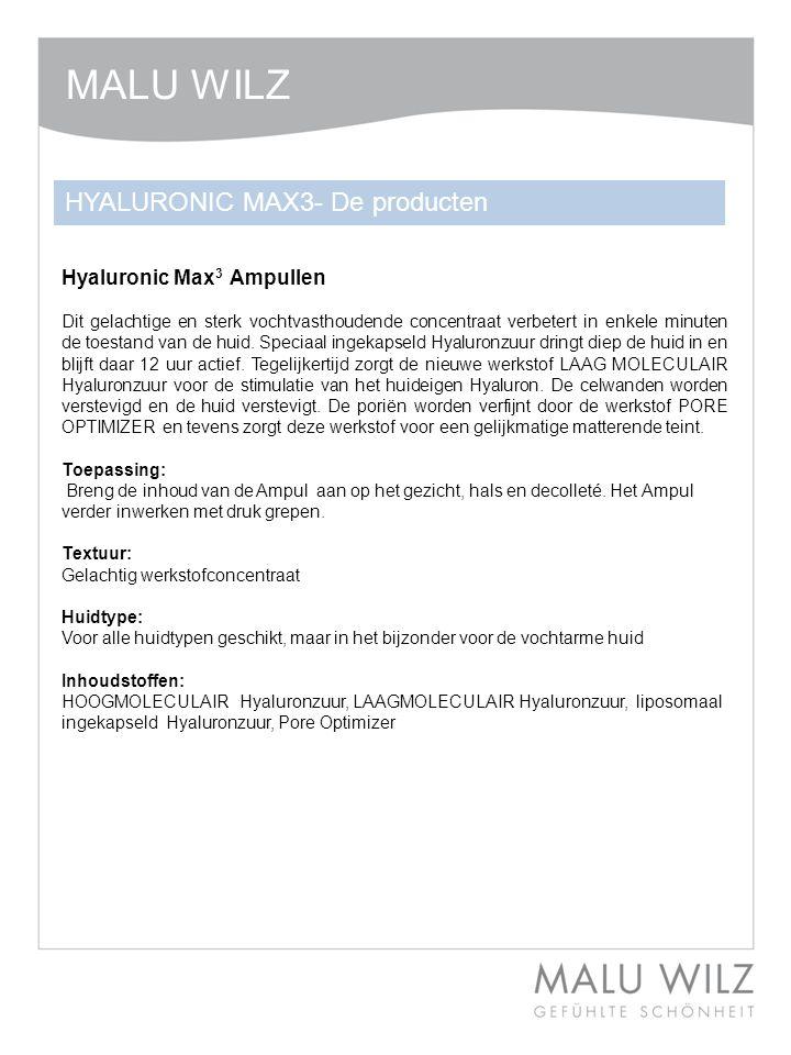 MALU WILZ HYALURONIC MAX3- De producten Hyaluronic Max3 Ampullen