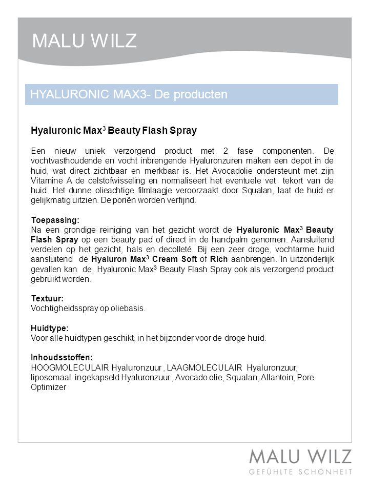 MALU WILZ HYALURONIC MAX3- De producten