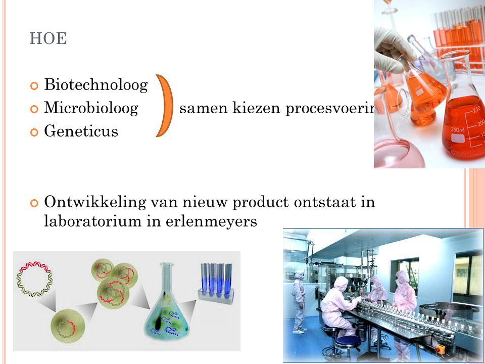 hoe Biotechnoloog Microbioloog samen kiezen procesvoering Geneticus