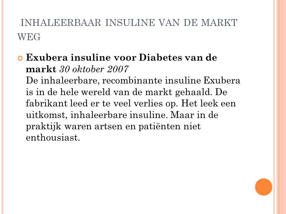 inhaleerbaar insuline van de markt weg