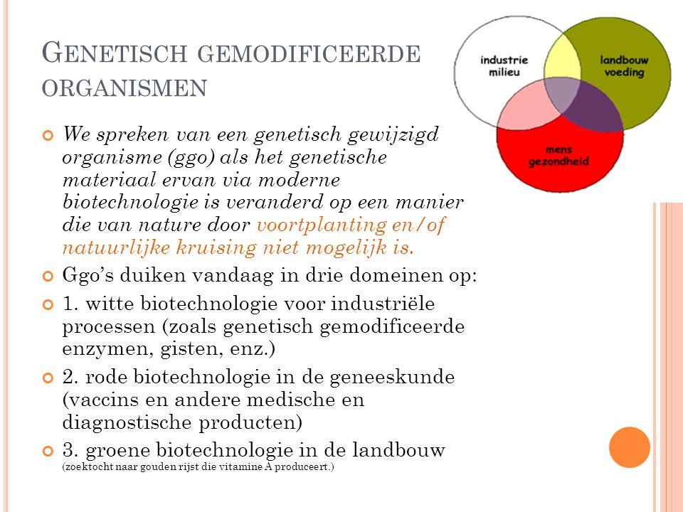Genetisch gemodificeerde organismen