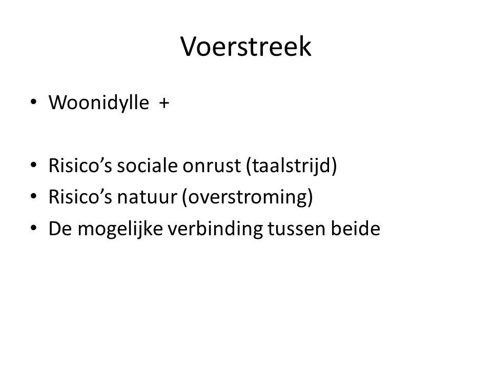 Voerstreek Woonidylle + Risico's sociale onrust (taalstrijd)