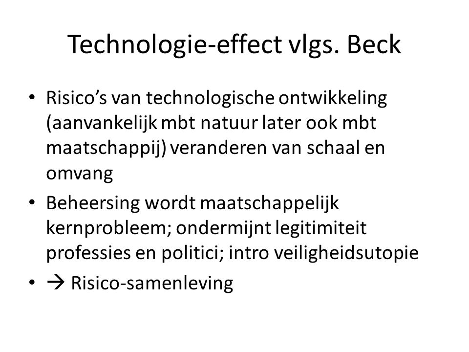 Technologie-effect vlgs. Beck
