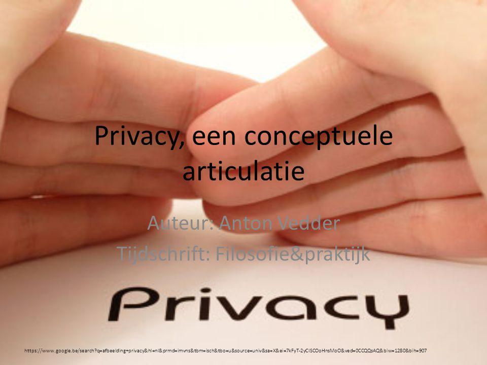 Privacy, een conceptuele articulatie