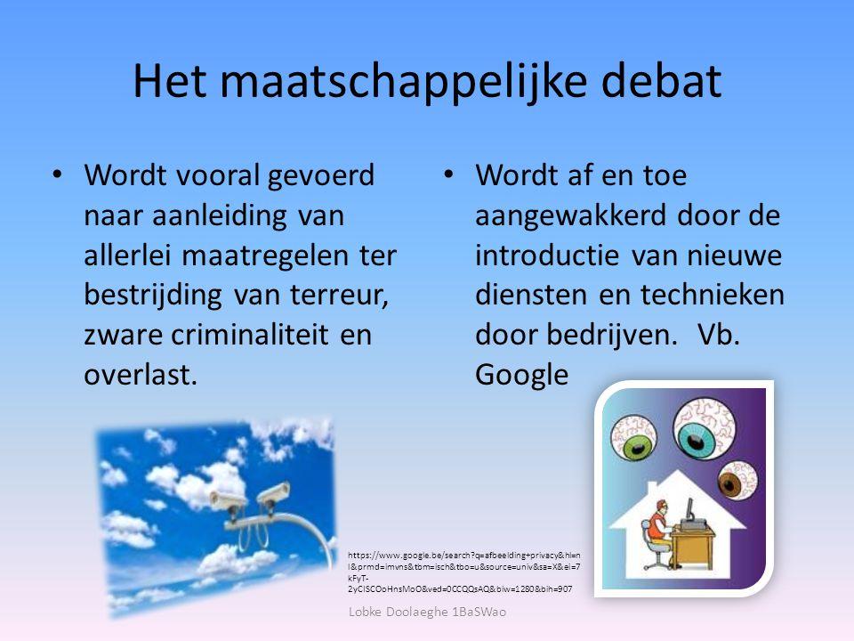 Het maatschappelijke debat