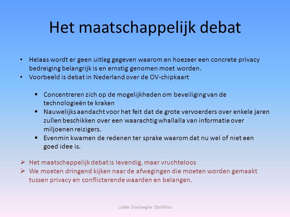 Het maatschappelijk debat