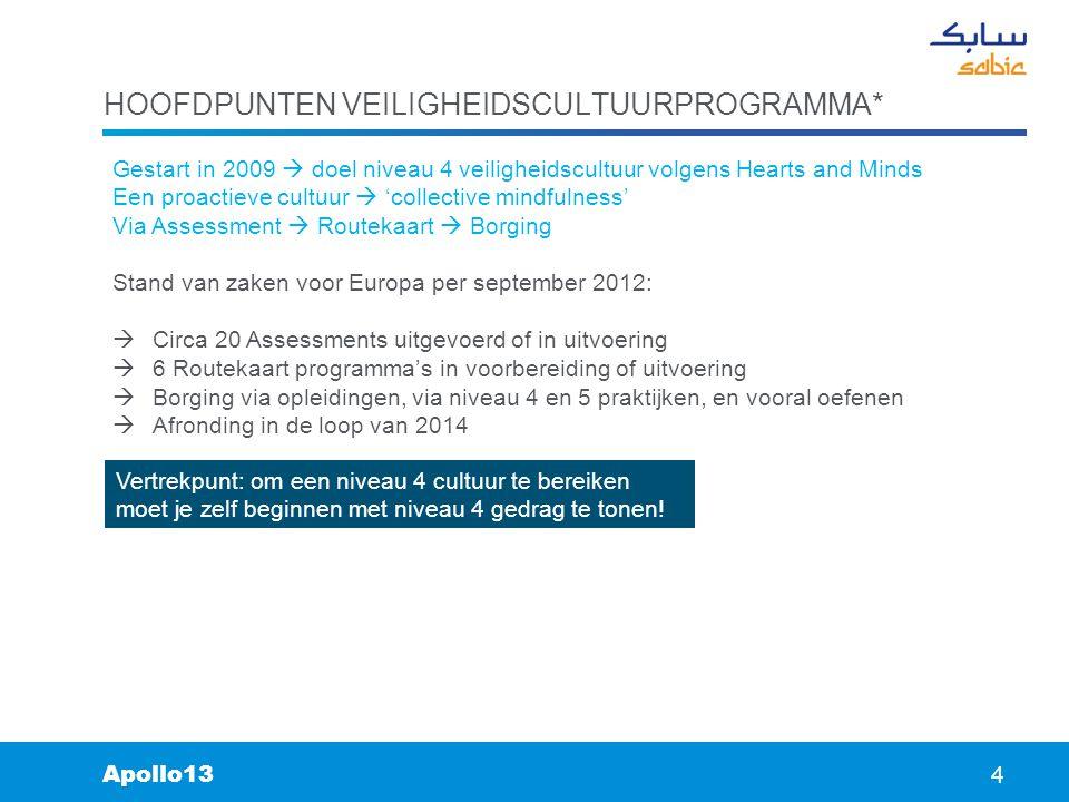 Hoofdpunten veiligheidscultuurprogramma*