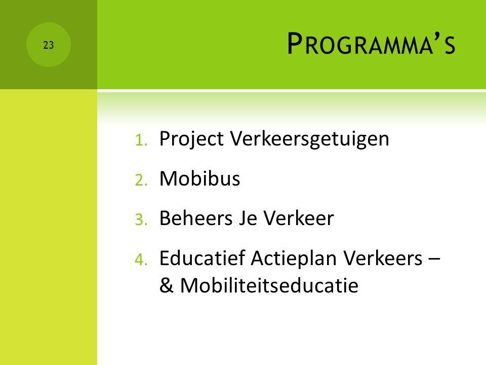 Programma's Project Verkeersgetuigen Mobibus Beheers Je Verkeer
