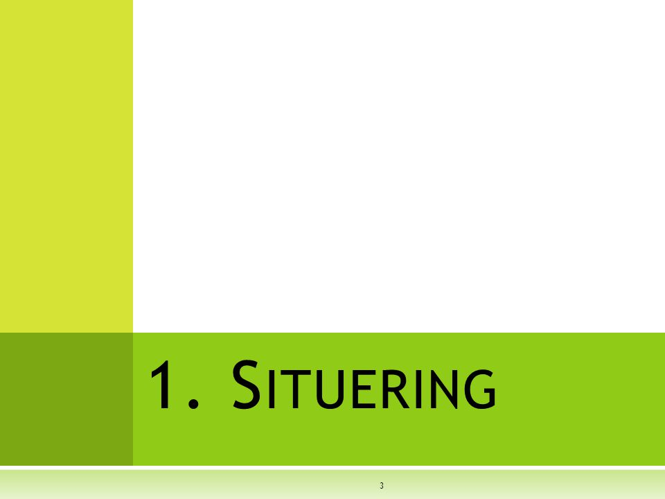 1. Situering