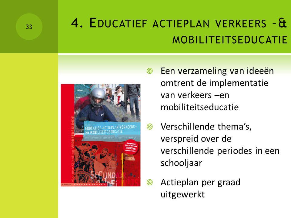 4. Educatief actieplan verkeers –& mobiliteitseducatie