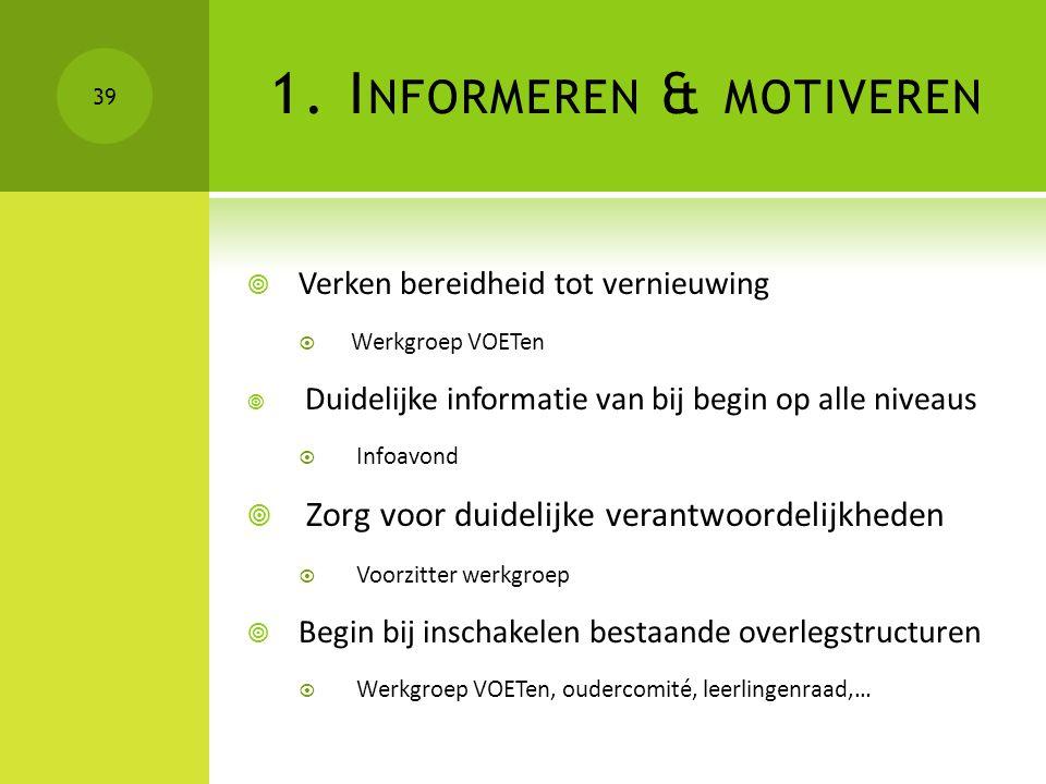 1. Informeren & motiveren